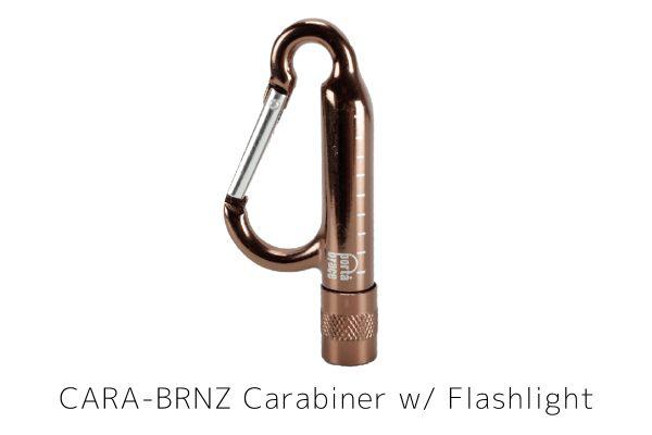 CARA-BRNZ Carabiner w_ Flashlight